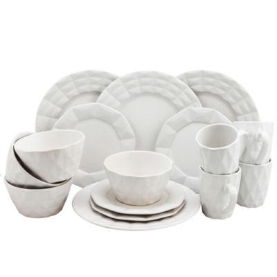 Elama Retro Chic 16 Piece Glazed Dinnerware Set
