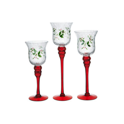 Winterberry Holiday 2017 3-pc. Candle Holder