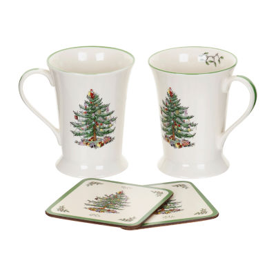 Spode Spode Christmas Tree 4-pc. Drinkware Set