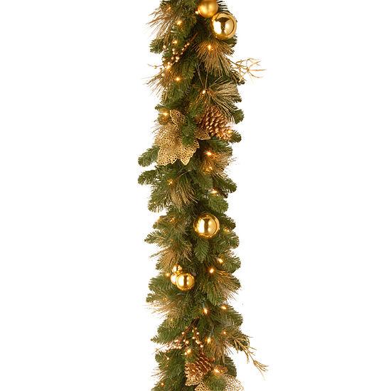 National Tree Co Elegance Indoor Outdoor Christmas Garland