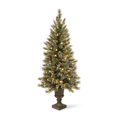 National Tree Co. 5 Foot Glittery Bristle Pin Pre-Lit Christmas Tree