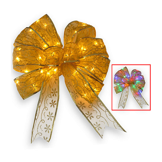 National Tree Co. Gold Bow Tree Topper