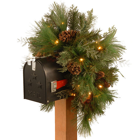 "National Tree Co. 36"" Mailbox Swag Christmas Garland"