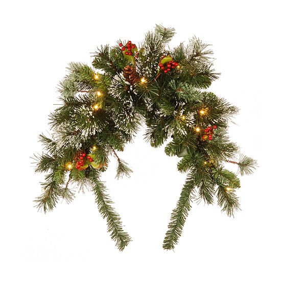 """National Tree Co. 3"""" Wintry Pine Mailbox Swag Christmas Garland"""