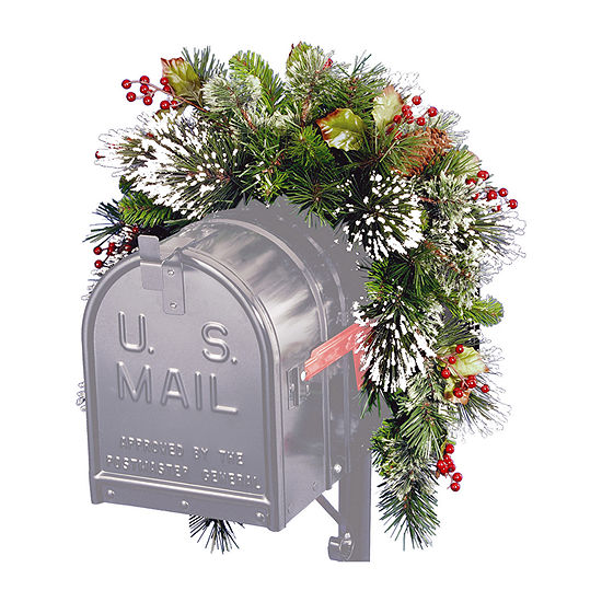 """National Tree Co. 36"""" Wintry Pine Mailbox Swag Christmas Garland"""