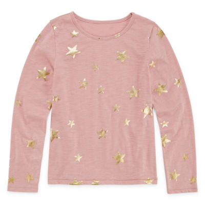 peyton&parker Long Sleeve Star Graphic Tee - Girls' 6-16