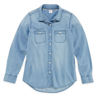 Peyton & Parker Chambray Shirt - Girls' 6-16