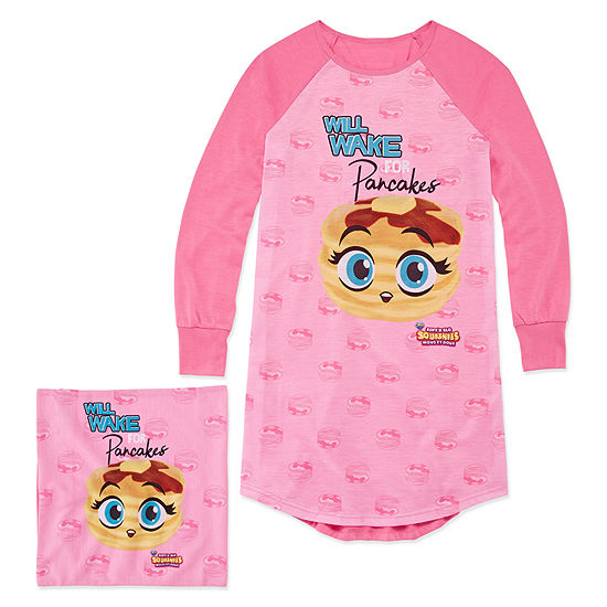 170717c651 Soft N Slo Squishies Pancake Nightshirt with Matching Pillow Case - Girls -  JCPenney