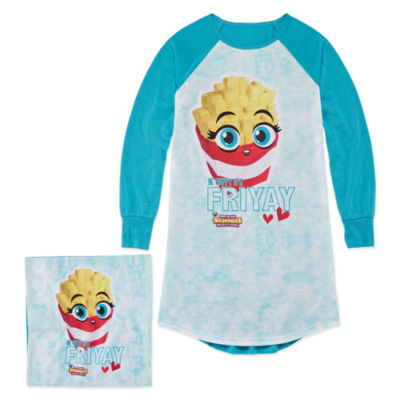 Soft'N Slo Squishies Friyay Nightshirt with Matching Pillow Case - Girls