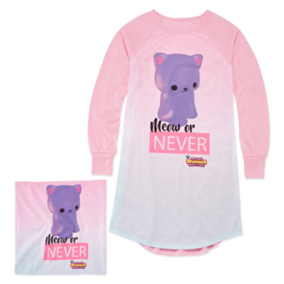 Soft'N Slo Squishies Meow or Never Nightshirt with Matching Pillow Case - Girls