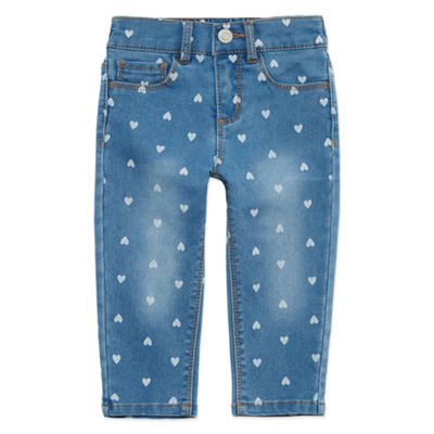 Okie Dokie Girls Straight Pull-On Pants - Baby