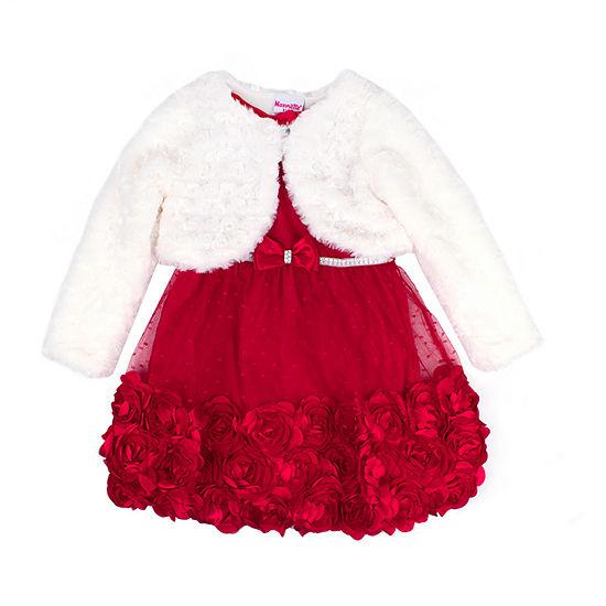 Nanette Baby Girls Sleeveless Dress Set - Toddler