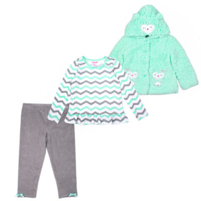 Nanette Baby 3-pc. Legging Set-Toddler Girls