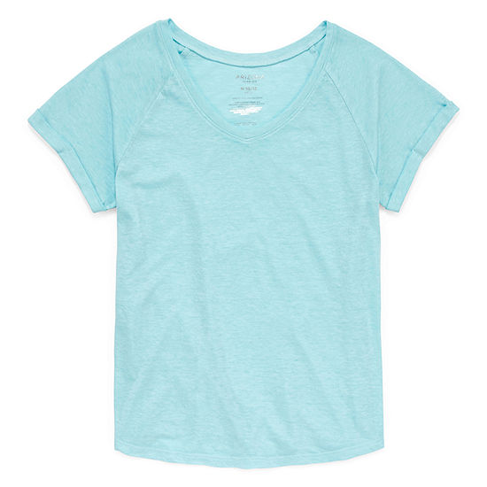 Arizona Short Sleeve V-Neck Tee - Girls' 4-16 & Plus