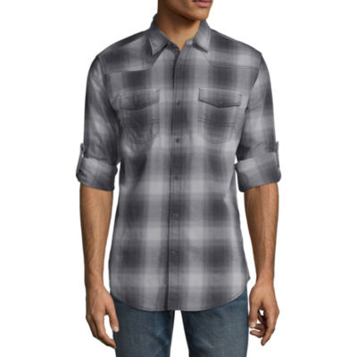 Decree Elbow Sleeve Button-Front Shirt