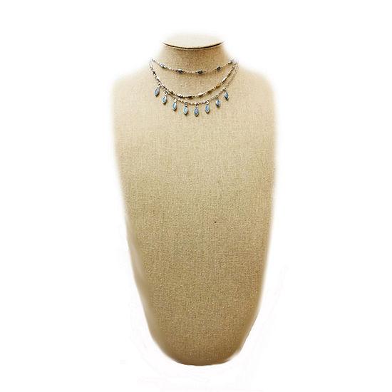 Arizona Blue 22 Inch Byzantine Pendant Necklace