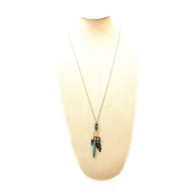 Arizona Womens Blue Pendant Necklace