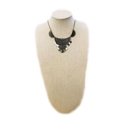 Arizona Womens Yellow Pendant Necklace
