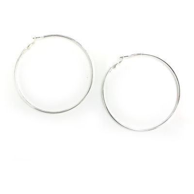 Arizona Gray 76.2mm Hoop Earrings