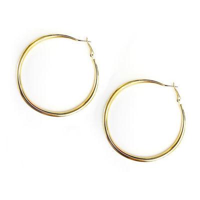 Arizona Yellow 63.5mm Hoop Earrings