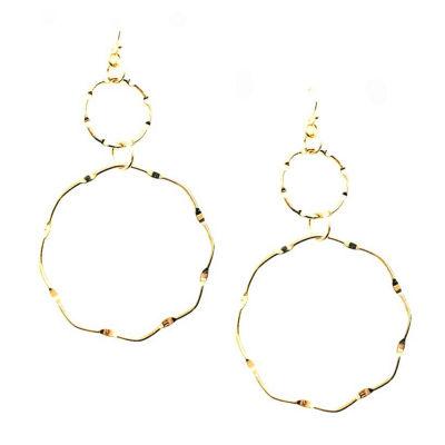 Arizona Yellow 76.2mm Hoop Earrings