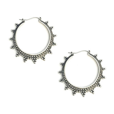 Arizona Gray 50.8mm Hoop Earrings