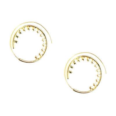 Arizona Yellow 25.4mm Hoop Earrings