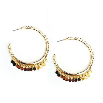 Arizona Yellow 41.3mm Hoop Earrings