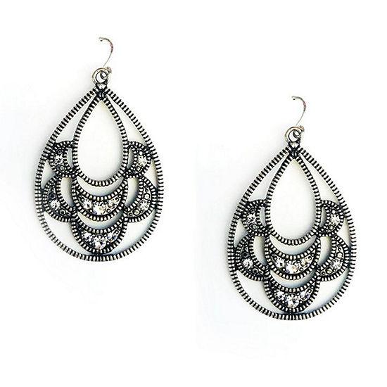 Arizona 1 Pair Gray Drop Earrings