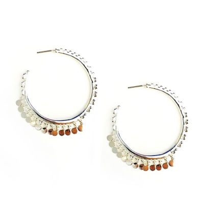 Arizona Gray 41.3mm Hoop Earrings