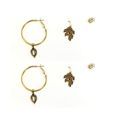 Arizona 3 Pair Yellow Earring Set