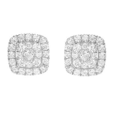 Grown With Love 5/8 CT. T.W. Lab Grown Diamond 10K White Gold 8.9mm Stud Earrings