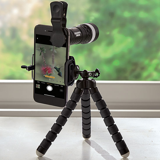 Sharper Image Clip-On Smartphone Telescope and Tripod Set