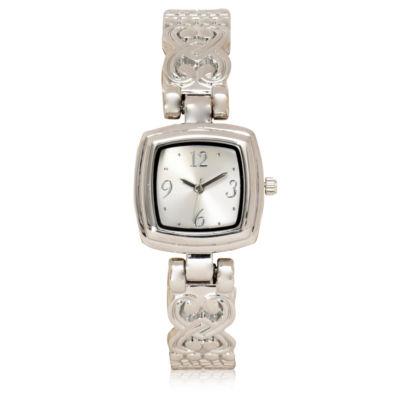 Mixit Womens Silver Tone Bangle Watch-Wac4484jc