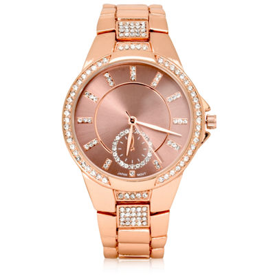 Geneva Womens Rose Goldtone Bracelet Watch-Wac8665jc