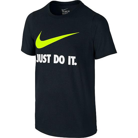 Nike Short Sleeve Crew Neck T Shirt Big Kid Boys