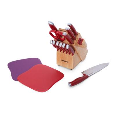 Farberware Edgekeeper 15-Pc. Knife Block Set