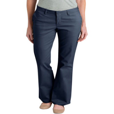 Dickies® Misses Slim Fit Stretch Bootcut Pants -Petite
