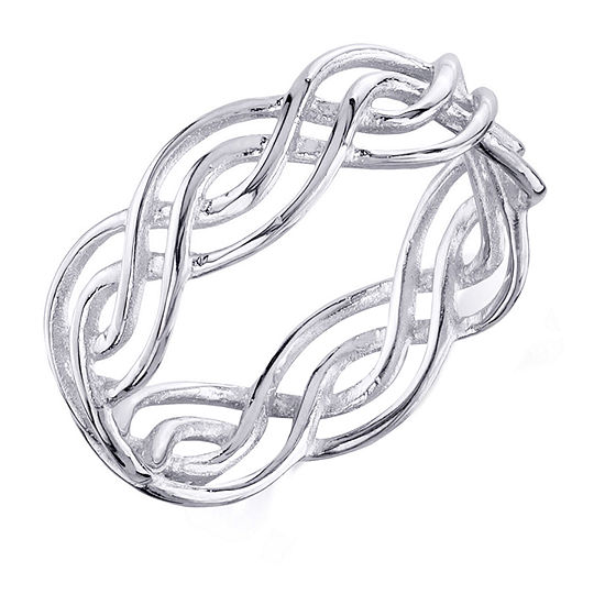 Footnotes Womens 6mm Sterling Silver Band
