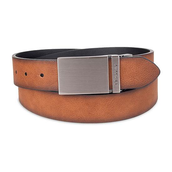 JF J.Ferrar® Reversible Men's Belt with Plaque Buckle