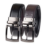 Stafford® Big & Tall Reversible Men's Dress Belt with Feathered Edge