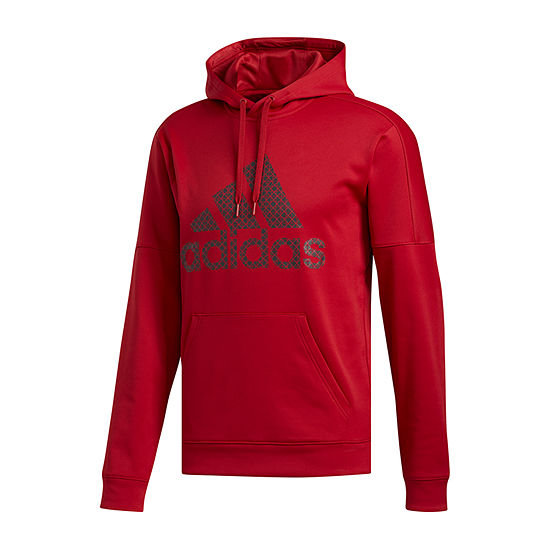 adidas Mens Long Sleeve Hoodie Big and Tall
