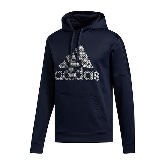 adidas Mens Long Sleeve Hoodie-Big and Tall