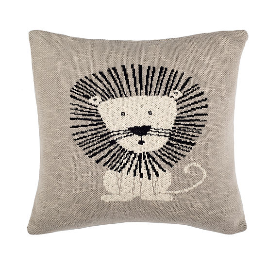 Safavieh Dandy Lion Square Throw Pillow