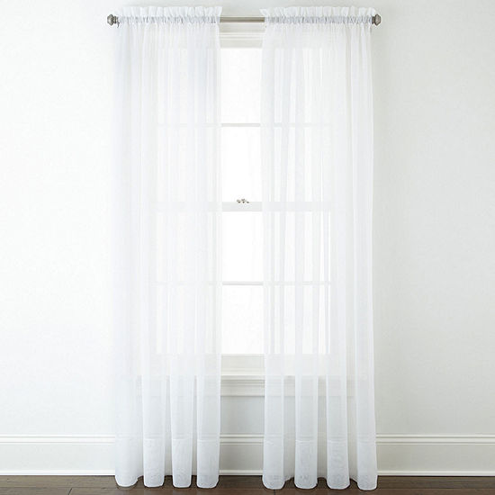 Home Expressions Lisette Sheer Rod-Pocket Single Curtain Panel