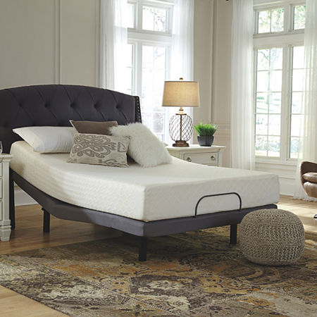 Signature Design by Ashley Chime 10-Inch Firm Memory Foam Mattress, One Size , White