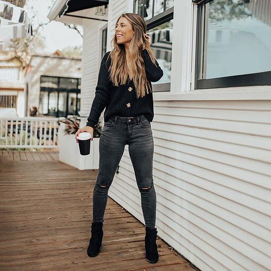 Natalie's Faves: Long Sleeve Cardigan & Skinny Jeggings