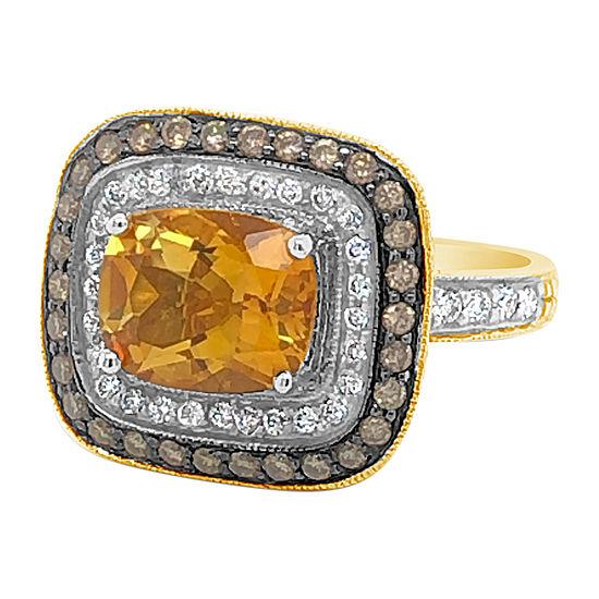 Le Vian Grand Sample Sale™ Ring featuring Cinnamon Citrine® Vanilla Diamonds® Chocolate Diamonds® set in 14K Honey Gold™