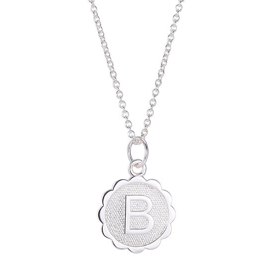 Silver Treasures Sterling Silver 16 Inch Link Round Pendant Necklace