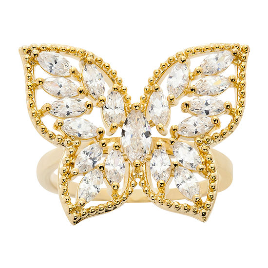 Sparkle Allure Cubic Zirconia Butterfly Cocktail Ring